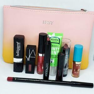 Lipstick, liner, balm and gloss bundle
